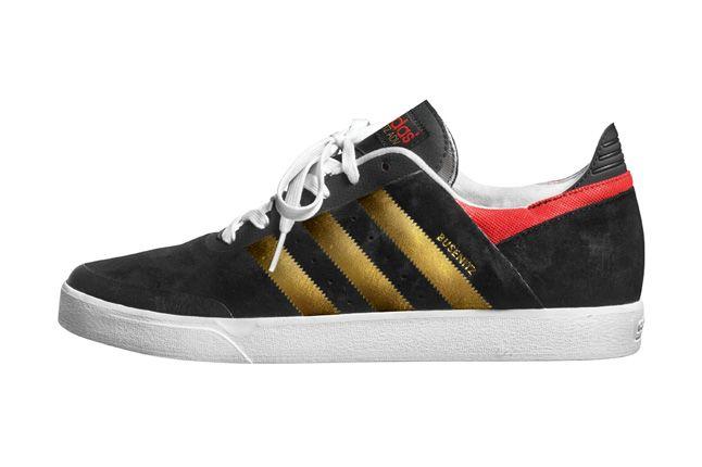 Adidas Busenitz Adv Black Gold Profile 1