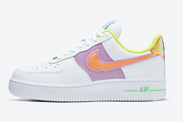 Nike Air Force 1 Low Purple Orange Left