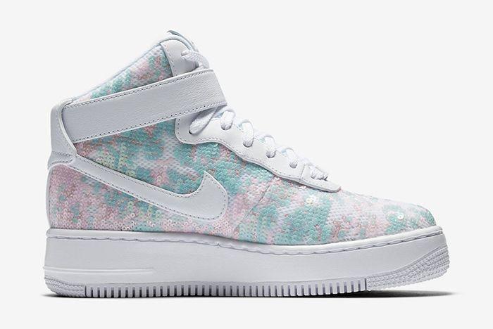 Nike Air Force 1 Upstep High Sequin 2