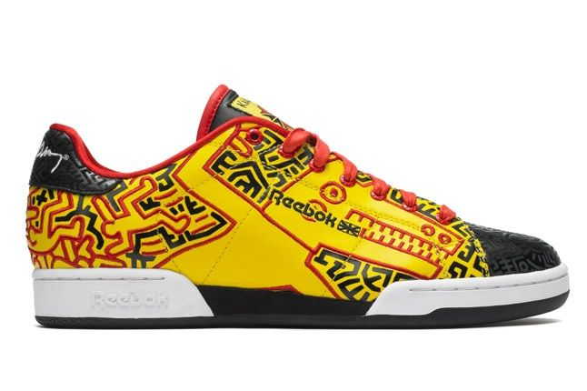 Reebok X Keith Haring Yellow And Black Low Top Profile 1