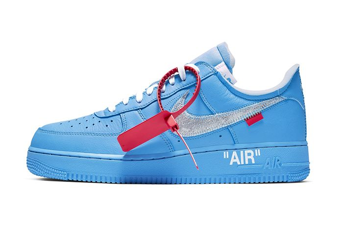 Virgil Abloh Off White Nike Air Force 1 Low Mca University Blue Ci1173 400 Complexcon Release Date Lateral