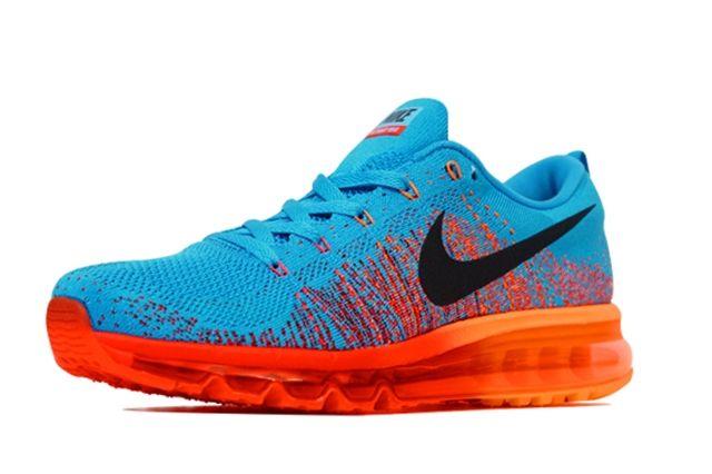 Nike Flyknit Air Max Vivid Blue Atomic Orange 2