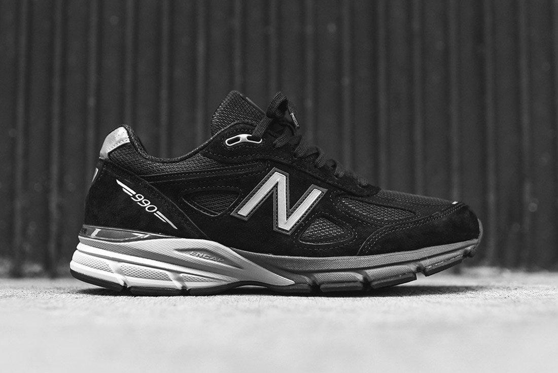 New Balance 990 V4 Black Silver 3