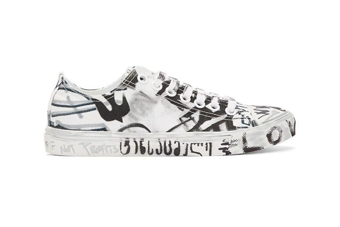 Vetements White Georgian Graffiti Sneaker Side Sht 5