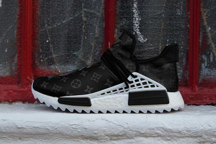 Pharrell Adidas Hu Nmd Louis Vuitton Black 1