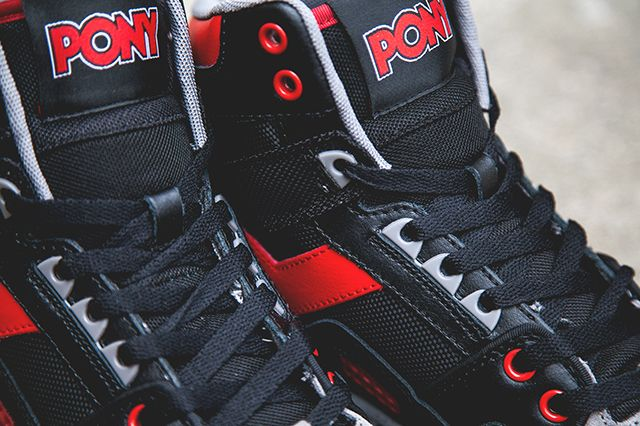 Pony M 100 Hi Black Red 3