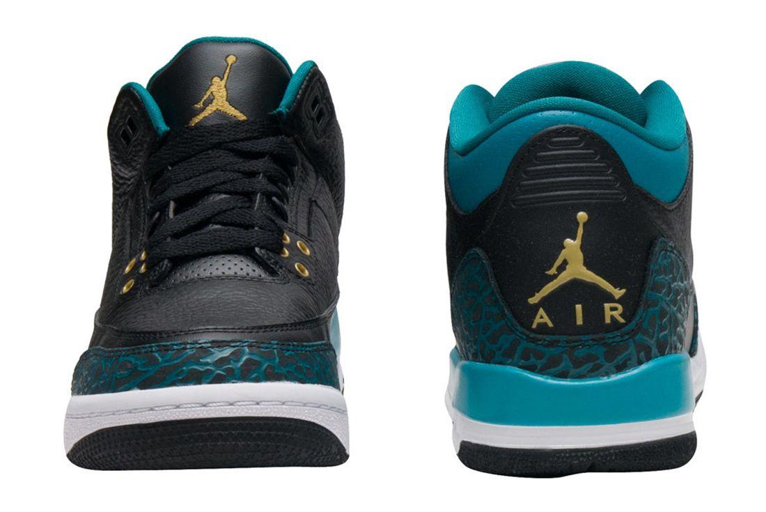 Air Jordan 3 Gs Rio Teal3