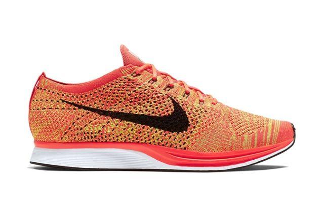 Nike Flyknit Racer Bright Crimson Volt 1