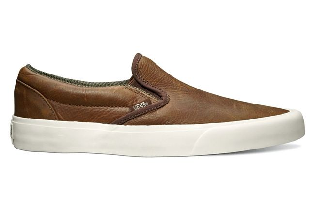Vans California Collection Classic Slip On Ca Tudor Leather Brown 1