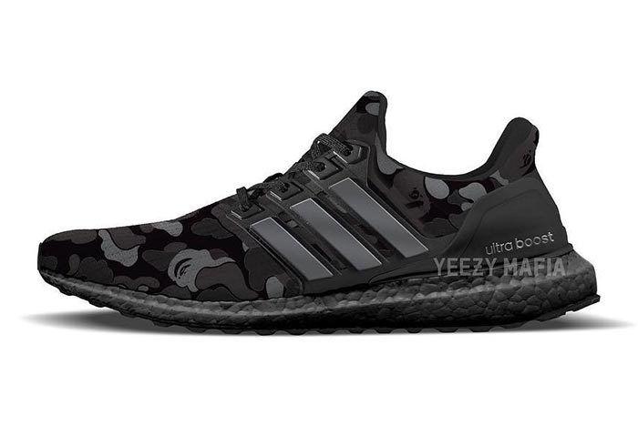 Bape X Adidas Ultraboost Black Camo