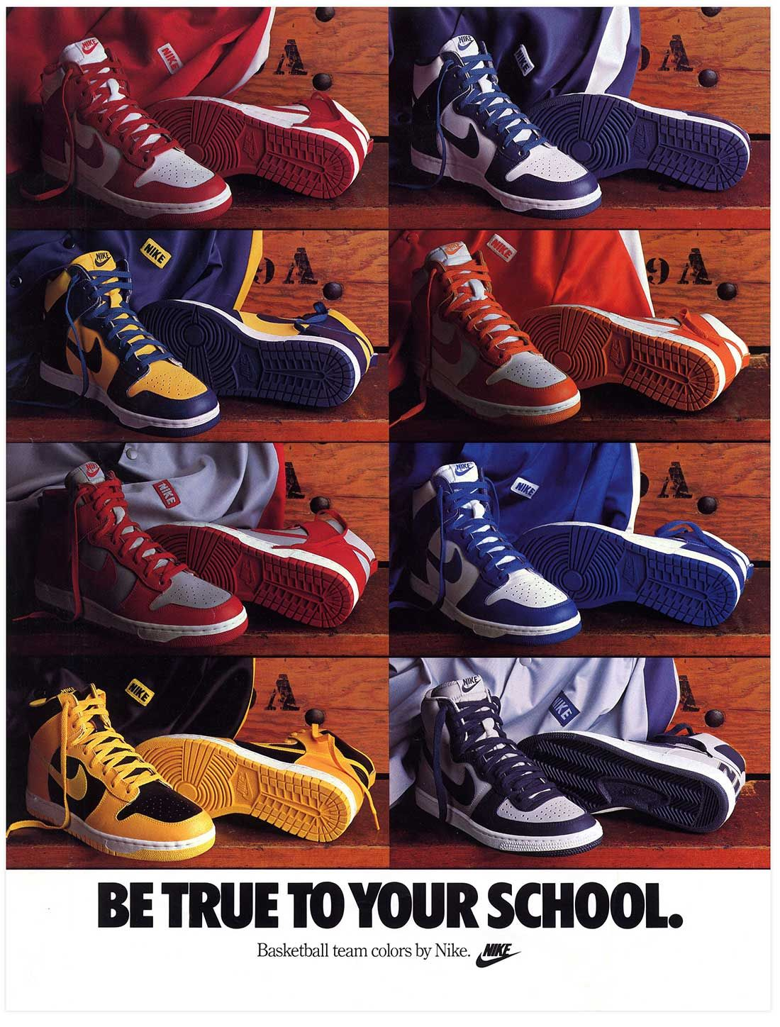 Nike Be True To Your School 1985 Poster