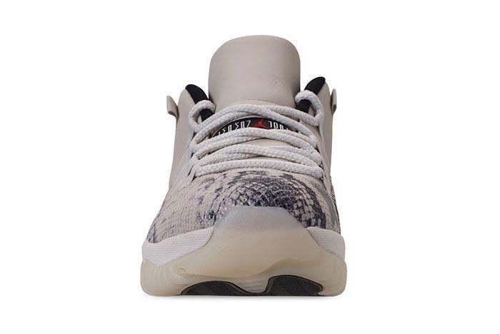 Air Jordan 11 Low Snakeskin Light Bone Front