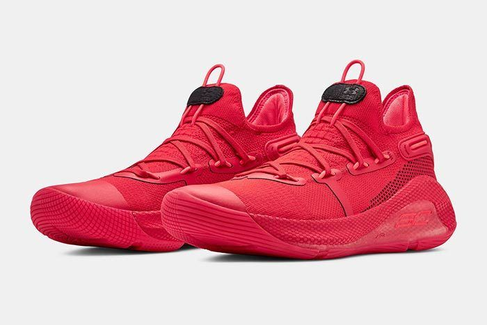 Under Armour Curry 6 Red 3