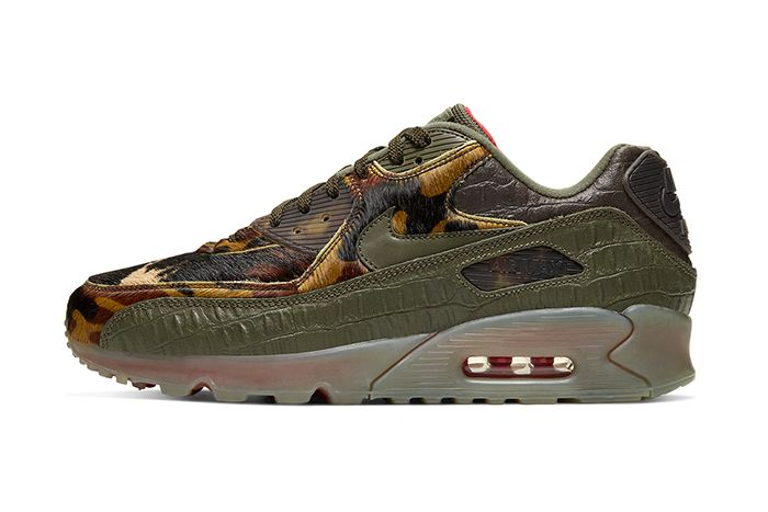 Nike Air Max 90 Cargo Khaki University Red Cu0675 300 Release Date Lateral