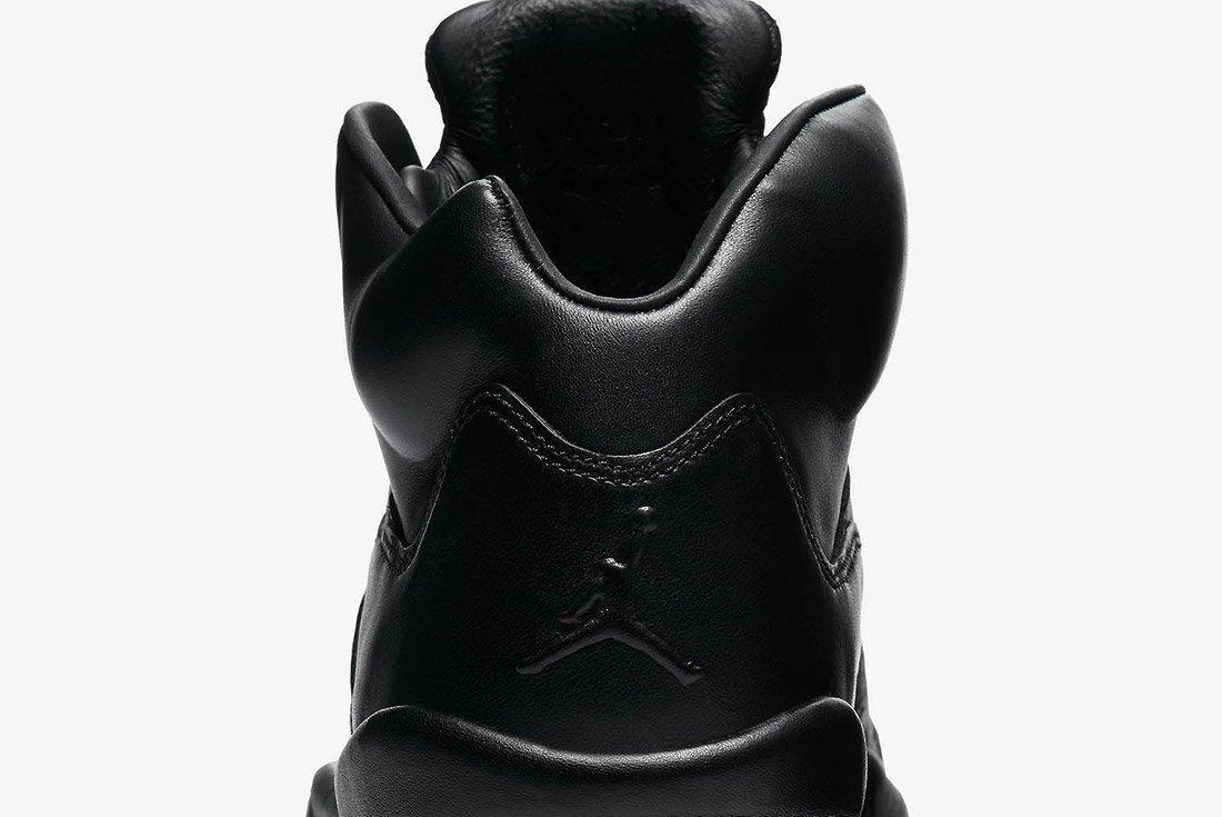 Air Jordan 5 Premium Triple Black Leather 6