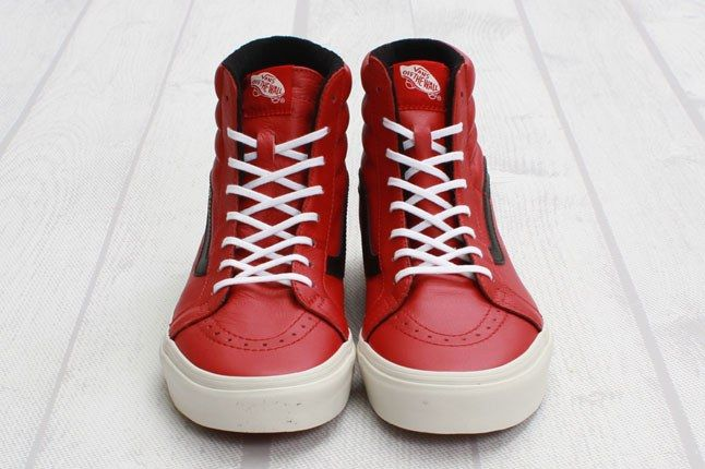 Vans Sk8 Hi Reissue Leather Chili Pepper Front On 1