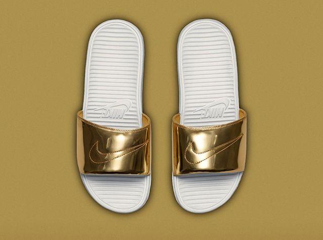 Nike Benassi Solarsoft Slide Liquid Metal Pack 1