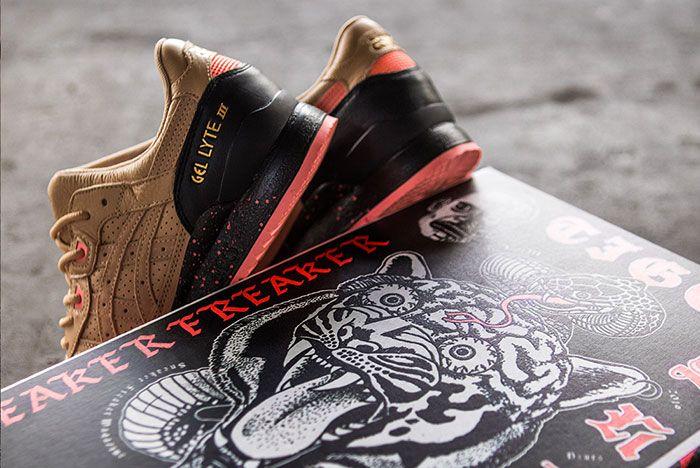Sneaker Freaker Asics Gel Lyte Iii Tiger Snake Heel Shot And Box