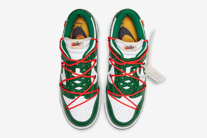 Off White Nike Dunk Low White Green Ct0856 100 Top