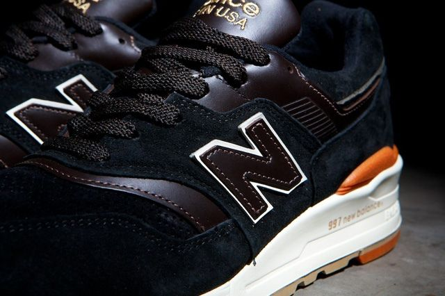 new balance 997 black orange