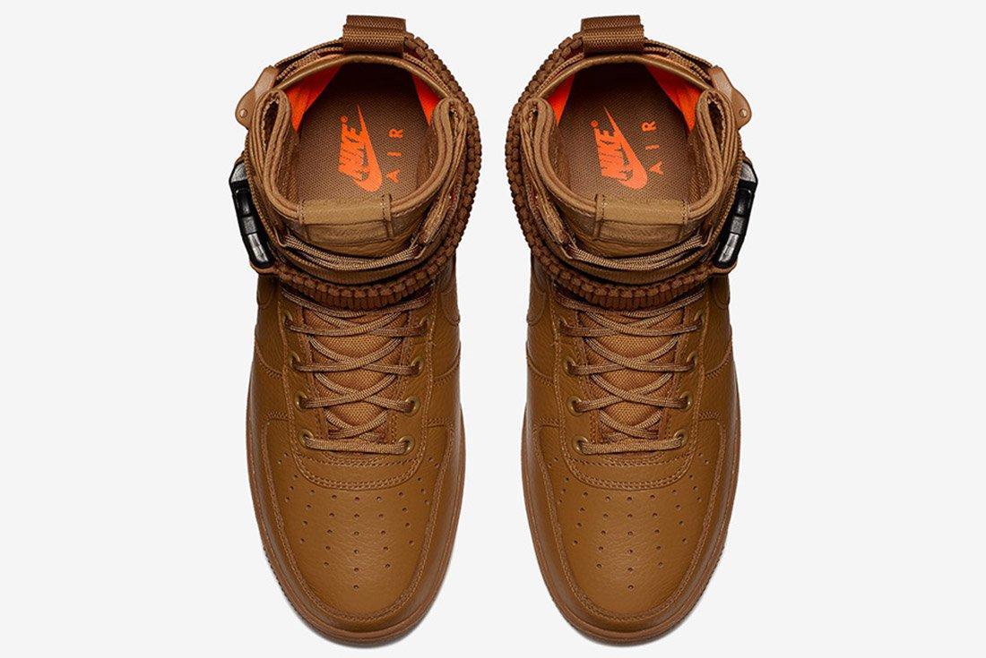 Nike Sf Air Force 1 Desert Ochre Brown Orange 3