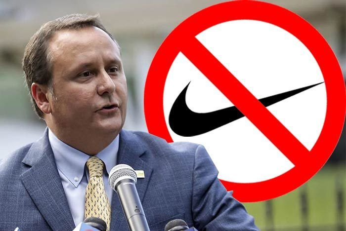 Ben Zahn Louisana Mayor Nike Ban
