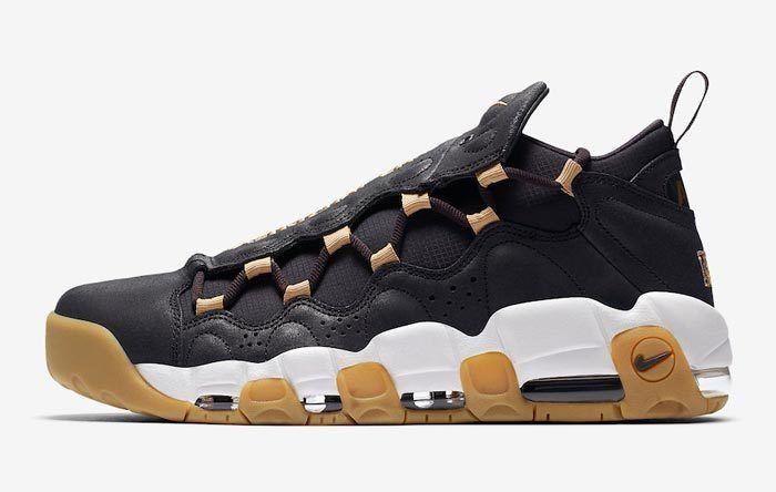 Nike Air More Money Brooklyn Oil Grey Metallic Gold Ar5401 001 700