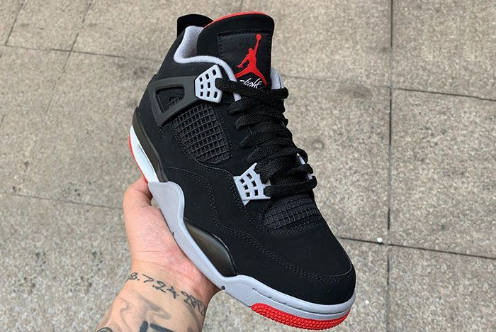 Air Jordan 4 Bred In Hand Up Close Right Side2
