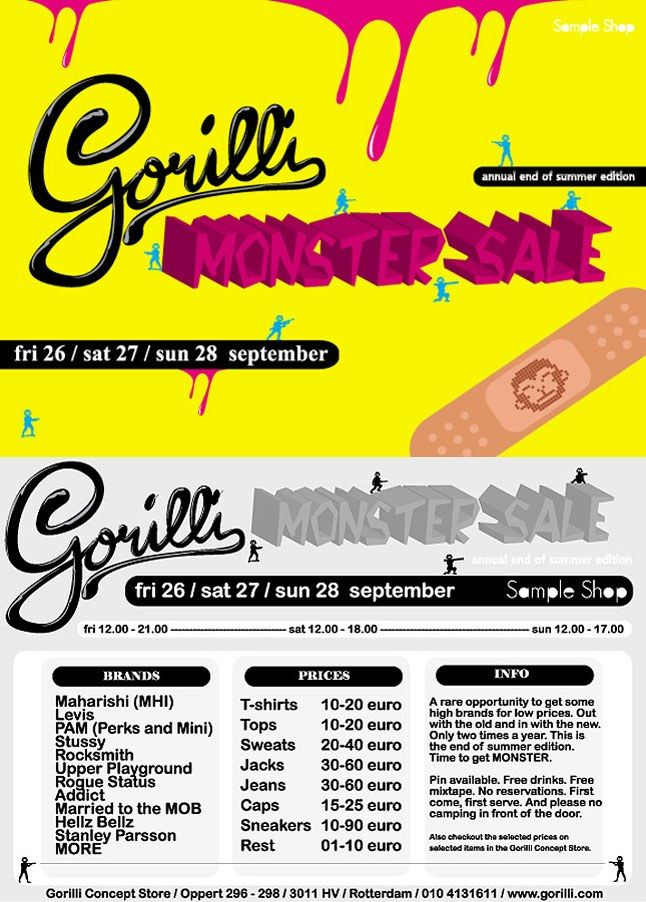 Gorilli Monster Sale 1