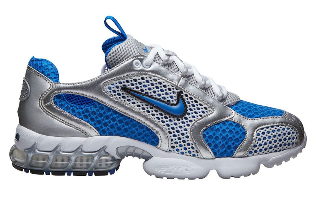 Nike Zoom Spiridon Cage 2 Silver Blue Lateral