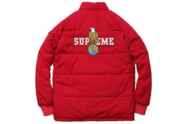 Supreme Puffer Red Jacket 1