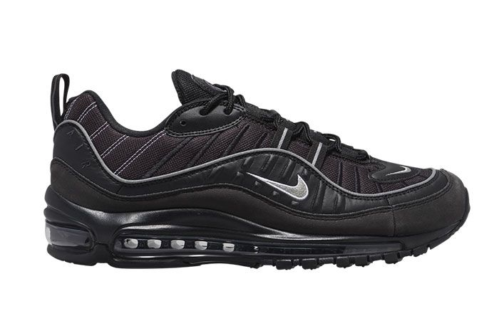 Nike Air Max 98 Black Metallic Silver 640744 013 Release Date Side