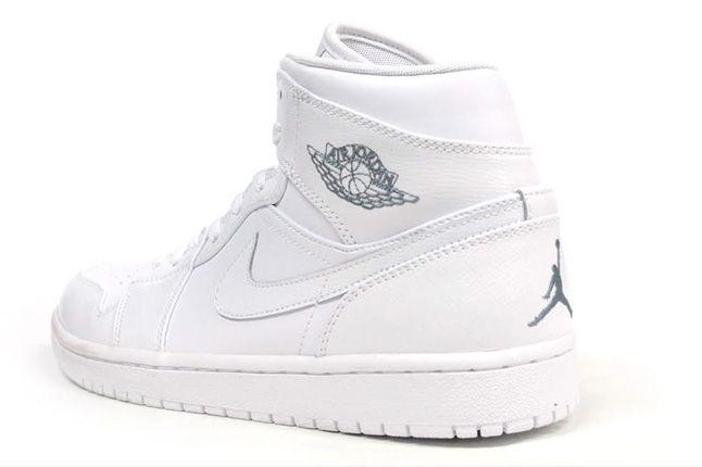 Air Jordan 1 White On White Quater Heel 1