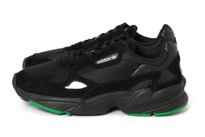 Beams Adidas Falcon Black Green 1