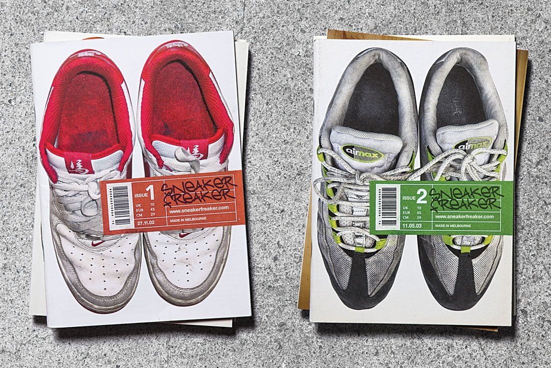 Issues 1 and 2 of Sneaker Freaker magazine