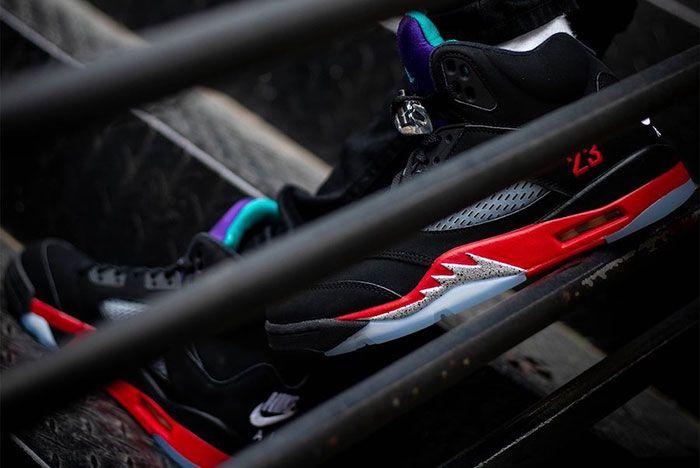 Air Jordan 5 Top 3 Cz1786 001 On Feet Release Date 12 Leak