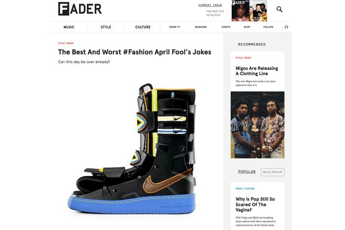 Sneaker Freaker April Fools Fader 1