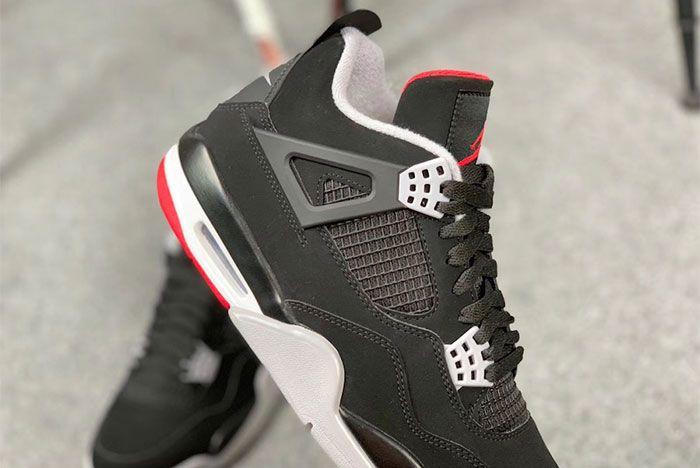 Air Jordan 4 Bred Up Close2 Side Shot