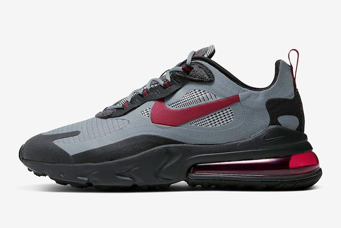 Nike Air Max 270 React Houndstooth Ct3135 001 Lateral