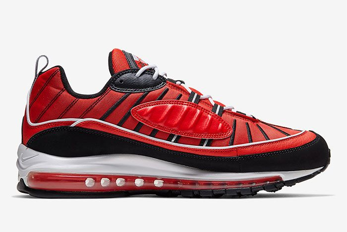 Nike Air Max 98 Red Black Right