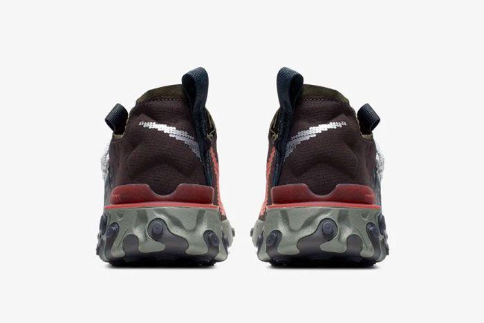 Nike Ispa React Low Velvet Brown Heel