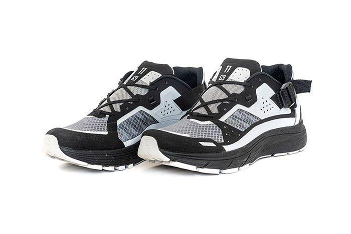 11 By Boris Bidjan Saberi X Salomon Spring Summer 2020 Footwear Black And White Low Three Quarter Angled Side Shot