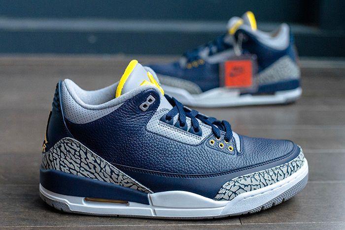 Air Jordan 3 College Pe Michigan 2 Sneaker Freaker