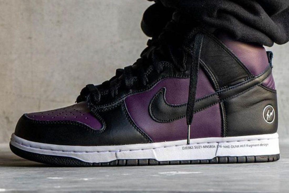 Fragment Design x Nike Dunk High 'Beijing' leaked on foot