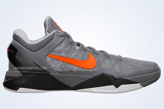 Nike Zoom Kobe Vii Wolf Grey Total Orange Black 5 1