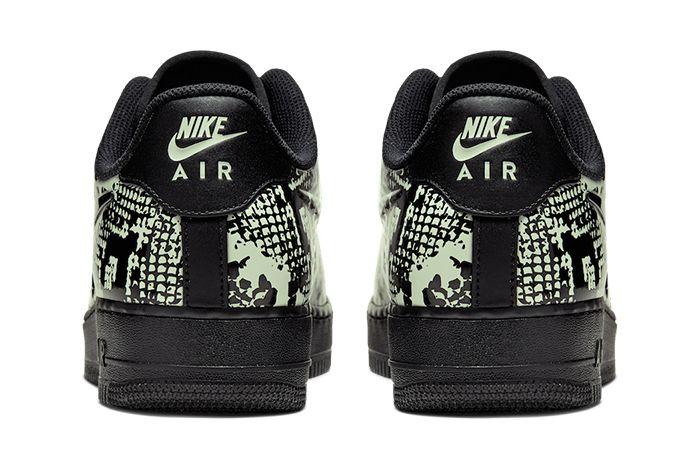 Nike Air Force 1 Low Foamposite Pro Cup Snakeskin Aj3664 300 Release Date Heel