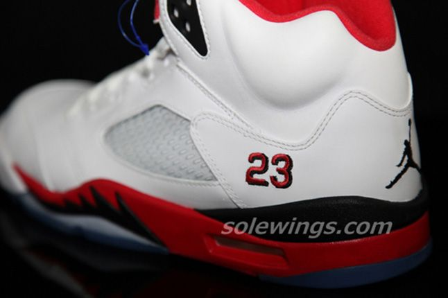 Jordan 5 Fire Red Black Tongue 2013 Details 1