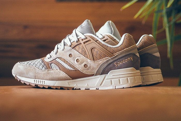Saucony Grid Sd Quilted Tan Grey 2