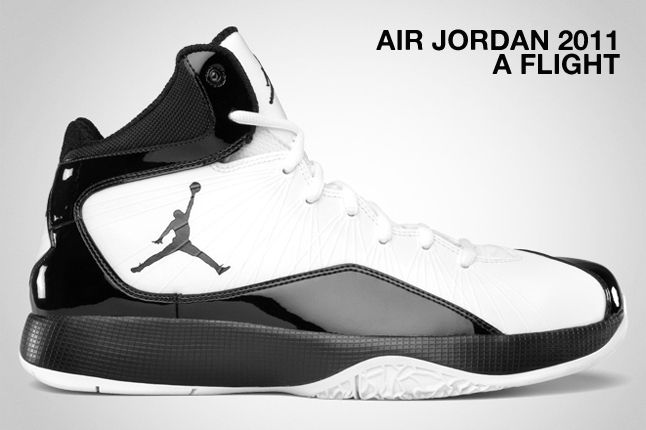 Air Jordan 2011 A Flight Black White 1