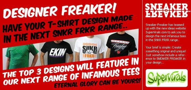 Design A Sneaker Freaker Tee 1